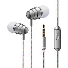 abordables Cascos y Auriculares-soyto KDK 204 En el oido Con Cable Auriculares Dinámica El plastico Teléfono Móvil Auricular Con control de volumen Con Micrófono Estéreo