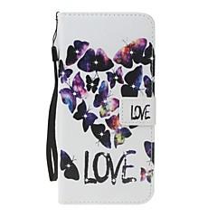Чехол для Apple iphone 7 7 плюс держатель карты держатель кошелек горный хрусталь с подставкой флип-узор полное тело сердце твердая кожа