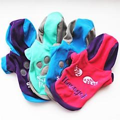 tanie Ubranka i akcesoria dla psów-Kot Pies Płaszcze T-shirt Bluzy Bluzy z kapturem Ubrania dla psów Litera i numer Purple Rose Green Niebieski Polary Kostium Dla zwierząt