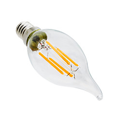 tanie Żarówki LED-świetlówki led ekscytujące 4w e14 ca35 4 diody cob ściemniane dekoracyjne ciepły biały 300-400lm 2800-3200k ac 220-240v