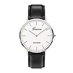 preiswerte Herrenuhren-Herrn Quartz Armbanduhr Chinesisch PU Band Luxus / Retro / Freizeit / Minimalistisch / Elegant / Modisch Schwarz / Braun