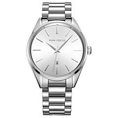 voordelige Kettinghorloge-Heren Modieus horloge Horlogeketting Kwarts Roestvrij staal Band Vrijetijdsschoenen Zwart Zilver