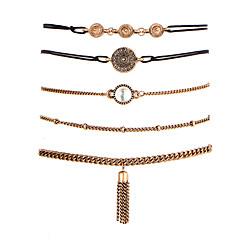 preiswerte Armbänder-Damen Kubikzirkonia Ketten- & Glieder-Armbänder - Zirkon, versilbert Freunde Modisch Armbänder Gold Für Weihnachts Geschenke / Hochzeit / Party