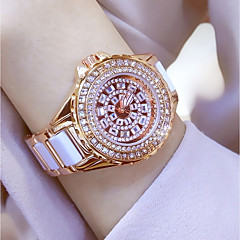 cheap Bracelet Watches-Women's Quartz Wrist Watch / Bracelet Watch Chinese Water Resistant / Water Proof / Creative / Imitation Diamond Stainless Steel Band