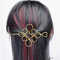 Europa e os Estados Unidos comércio exterior euro contratado joker acessórios de cabelo oco metal chinês nó cabelo meio braço tipo