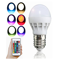 preiswerte LED-Birnen-1pc 3 W 100 lm E26 / E27 Smart LED Glühlampen 1 LED-Perlen Integriertes LED Ferngesteuert / Dekorativ / Farbverläufe RGB 85-265 V / 1 Stück / RoHs
