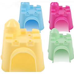 tanie Akcesoria dla małych zwierząt-Gryzonie Chomik Silikonowy Legowiska Yellow Green Niebieski Różowy