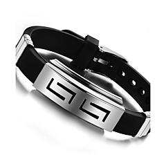 abordables Bijoux pour Femme-Bracelets Rigides - Acier inoxydable Mode Bracelet Noir Pour Soirée Anniversaire Fête / Soirée