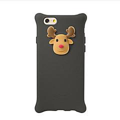 Недорогие Кейсы для iPhone 5-Кейс для Назначение IPhone 7 / iPhone 7 Plus / iPhone 6s Plus Защита от удара / С узором Кейс на заднюю панель 3D в мультяшном стиле Мягкий Силикон для iPhone 7 Plus / iPhone 7 / iPhone 6s Plus