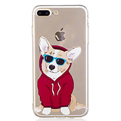 billige iPhone 5-etuier-Etui Til Apple iPhone X iPhone 8 Mønster Bagcover Hund Tegneserie Blødt TPU for iPhone X iPhone 8 Plus iPhone 8 iPhone 7 Plus iPhone 7