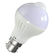 preiswerte LED-Birnen-1pc 5 W 500 lm B22 / E26 / E27 Smart LED Glühlampen A60(A19) 10 LED-Perlen SMD 5730 Sensor / Infrarot-Sensor / Lichtsteuerung Warmes Weiß / Kühles Weiß 85-265 V / 1 Stück / RoHs