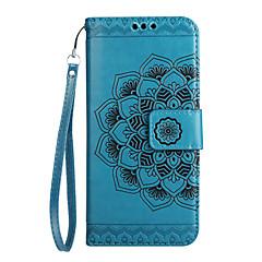 voordelige Hoesjes / covers voor Huawei-hoesje Voor Huawei Kaarthouder Portemonnee Flip Patroon Reliëfopdruk Volledig hoesje Mandala Bloem Hard PU-nahka voor Mate 9 Huawei Y6 II