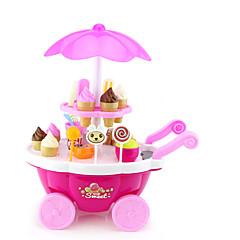abordables Juegos de imaginación-Juguete de carrito de helado Coches de juguete Comida de juguete Juegos de Rol Barco Para Helado Simulación Plásticos El plastico Chica