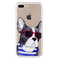 Недорогие Кейсы для iPhone 5-Кейс для Назначение Apple iPhone X iPhone 8 С узором Кейс на заднюю панель С собакой Мультипликация Мягкий ТПУ для iPhone X iPhone 8