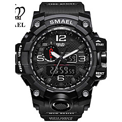 cheap Men's Watches-SMAEL Sport Watch Military Watch Digital Watch Emitters Water Resistant / Water Proof, Calendar / date / day, Chronograph Dark Green / Black / Gray / Black / Silver / Japanese / Shock Resistant
