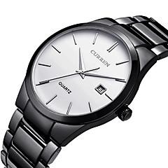 CURREN Męskie Sportowy Modny Zegarek na nadgarstek Unikalne Kreatywne Watch Na codzień Kwarcowy Kalendarz Stal nierdzewna Pasmo