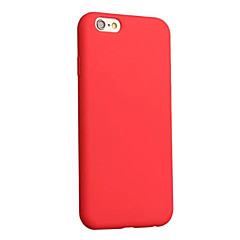 Pour iPhone 8 iPhone 8 Plus Etuis coque Antichoc Ultrafine Coque Arrière Coque Couleur unie Flexible PUT pour Apple iPhone 8 Plus iPhone