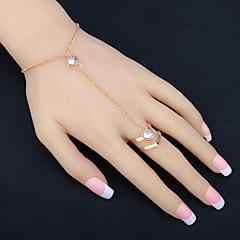 preiswerte Armbänder-Damen Kubikzirkonia Quaste Ring-Armbänder - Strass Modisch Armbänder Gold Für Party Jahrestag Geburtstag