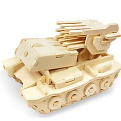 رخيصةأون -قطع تركيب3D تركيب النماذج الخشبية ديناصور دبابة طيارة عربة 3D اصنع بنفسك خشبي خشب كلاسيكي للجنسين هدية