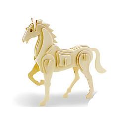 voordelige -3D-puzzels Legpuzzel Houten modellen Dinosaurus Vliegtuig Paard Dier 3D DHZ Puinen Hout Klassiek Unisex Geschenk