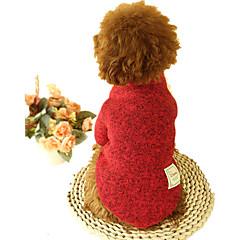 abordables Accesorios y Ropa para Perros-Perro Suéteres Ropa para Perro Un Color Gris Café Rojo Verde Felpa Algodón Plumón Disfraz Para mascotas Casual/Diario