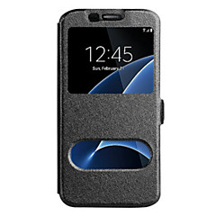 billige Galaxy Note Edge Etuier-Til samsung galaxy note 5 note 4 cover med vinduer fuld kropscase solid farve hard pu læder til samsung galaxy note 3 note kant
