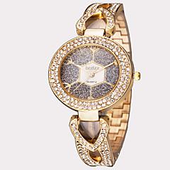 Dames Modieus horloge Polshorloge Japans Kwarts Waterbestendig Roestvrij staal Band Bladeren Vintage Zilver Goud Goud Rose