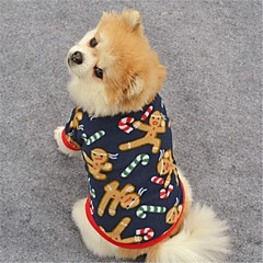 قط كلب المعاطف T-skjorte كنزة ملابس الكلاب حفلة كاجوال/يومي الدفء الرنة أزرق داكن بني