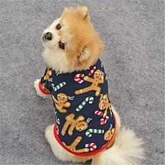 Kat Hond Jassen T-shirt Sweatshirt Hondenkleding Feest Casual/Dagelijks Houd Warm Rendier Donkerblauw Bruin