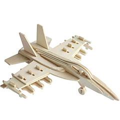 voordelige -Speelgoedauto's 3D-puzzels Legpuzzel Houten modellen Vliegtuig Vechter 3D DHZ Hout Klassiek Jongens Unisex Geschenk