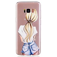 voordelige Galaxy S6 Edge Hoesjes / covers-hoesje Voor Samsung Galaxy S8 Plus S8 Patroon Achterkantje Sexy dame Zacht TPU voor S8 S8 Plus S7 edge S7 S6 edge S6