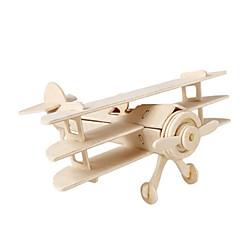 voordelige -3D-puzzels Legpuzzel Houten modellen Vliegtuig Vechter Beroemd gebouw DHZ Hout Klassiek Kinderen Unisex Geschenk