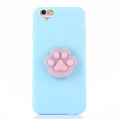 Tilfelle for iphone 7 pluss 7 squishy diy stress relief tilfelle bakside tilfelle søt 3d tegneserie myk tpu sak for iphone 6 6s 6 pluss 6s