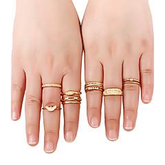 Women's Band Rings Ring Cuff Ring Personalized Rock Multi-ways Wear Euramerican Simple StyleGold Metal Alloy Rhinestone Shiny Metallic