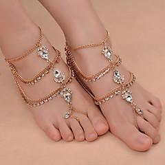 Kadın's Ayak bileziği/Bilezikler Demir (Nikel Kaplama) alaşım Moda kostüm takısı Damla Mücevher Uyumluluk Günlük Odzież turystyczna