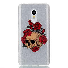 Кейс для xiaomi красныйmi 4a примечание 4x двойной imd чехол задняя крышка чехол rose скелет узор soft tpu redmi 3s