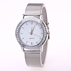Women's Fashion Watch Chinese Quartz Stainless Steel Band Casual Cool Silver