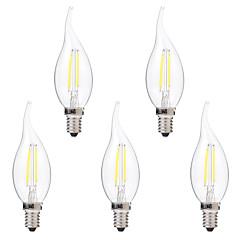 2W E14 Lâmpadas de Filamento de LED C35 2 leds COB Regulável Branco Quente Branco 200lm 2700-3200 6000-6500K AC 220-240V