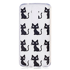 voordelige Hoesjes / covers voor LG-Hoesje voor lg h502 x power hoesje hoesje kat patroon geverfd hoge penetratie tpu materiaal imd proces zachte hoesje telefoon hoesje k8