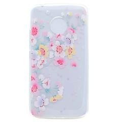 billige Etuier til Motorola-Etui til motorola g5 g5 plus cover gennemsigtigt mønster bagcover kirsebær blomst blødt tpu tilfælde