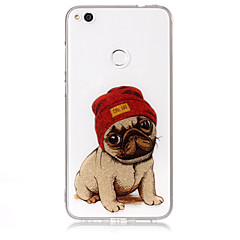 tanie Etui / Pokrowce do Huawei-Kılıf Na Huawei P9 Lite Huawei Huawei P8 Lite IMD Wzór Czarne etui Pies Połysk Miękkie TPU na P10 Lite Huawei P9 Lite P8 Lite (2017)