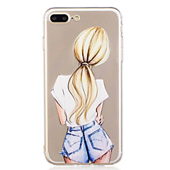 abordables Coques pour iPhone 5S / SE-Coque Pour Apple iPhone X iPhone 8 Motif Coque Femme Sexy Flexible TPU pour iPhone X iPhone 8 Plus iPhone 8 iPhone 7 Plus iPhone 7 iPhone