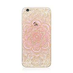 billige Etuier til iPhone 6s-Etui Til Apple iPhone X iPhone 8 Plus Transparent Mønster Bagcover Mandala-mønster Blonde Tryk Blødt TPU for iPhone X iPhone 8 Plus