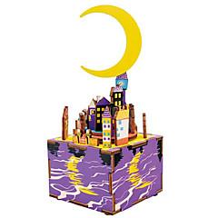 puzzle-uri Kit Lucru Manual Puzzle Lemn Blocuri de pereti DIY Jucarii Clădire celebru MOON Desen animat Compus