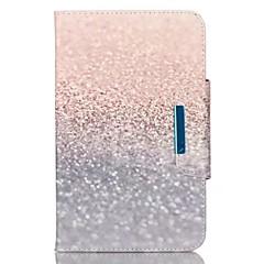 Недорогие Чехлы и кейсы для Galaxy Tab 3 Lite-Кейс для Назначение SSamsung Galaxy / Вкладка 9,7 Кошелек / Бумажник для карт / со стендом Чехол Мрамор Твердый Кожа PU для Tab 4 10.1 / Tab 4 8.0 / Tab 4 7.0