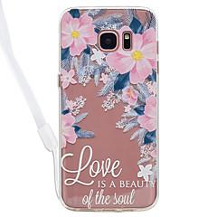Etui Til Samsung Galaxy S8 Plus S8 Transparent Mønster Bagcover Ord / sætning Transparent Blomst Hårdt Akryl for S8 S8 Plus S7 edge S7 S6