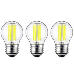 お買い得  LED 電球-3本 6W 560lm E27 フィラメントタイプLED電球 G45 6 LEDビーズ COB 装飾用 温白色 ホワイト 220-240V