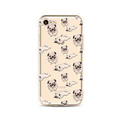 Obudowa dla telefonu iphone 7 plus 7 pokrywka przezroczysta obudowa tylna obudowa ławka płytki psy miękka tpu dla jabłek iphone 6s plus 6