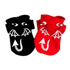 お買い得  犬用ウェア&アクセサリー-犬 コスチューム コート 犬用ウェア ハロウィーン 天使&悪魔 ブラック レッド