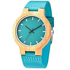 tanie Skóra-Męskie Zegarek na nadgarstek Unikalne Kreatywne Watch Na codzień Zegarek Drewno Sportowy Modny Kwarcowy drewniany Skóra naturalna Pasmo